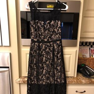 Log black lace evening gown